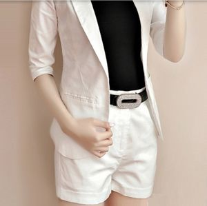 Mossimo clothing white blazer and cuff shorts set